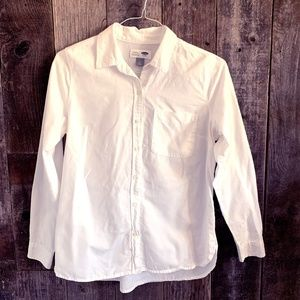 Old Navy White Collared Button Down
